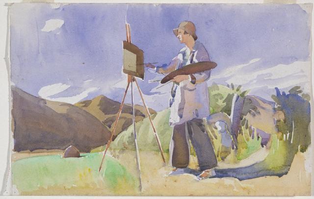 Ngaio Marsh painting