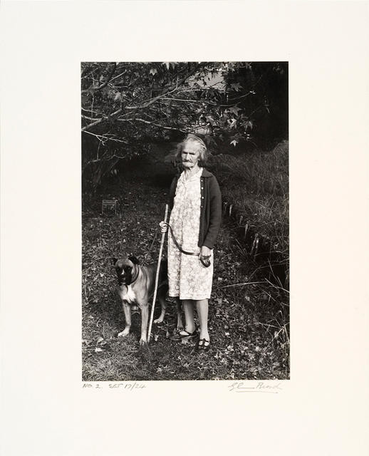 Woman with her dog, Auckland
