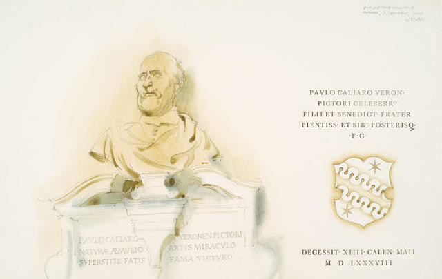 Bust and Tomb Inscription Of Veronese, S Sebastiano, Venice
