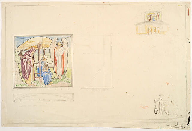 Untitled (Working drawing for Nativity Scene)