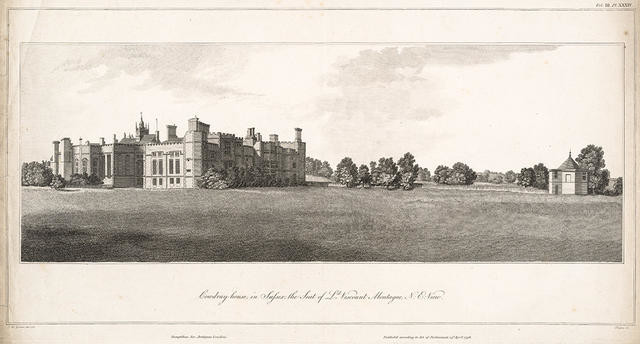 Cowdray house in Sussex, the Seat of Ld. Viscount Montague N.E. View