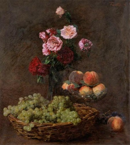 Henri Fantin-Latour Panier de Raisins 1893. Oil on canvas. Collection of Christchurch Art Gallery Te Puna o Waiwhetū, Frank White Bequest 2001