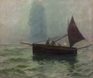 Hely Smith The Fog Horn 1896. Oil on canvas. Collection of Christchurch Art Gallery Te Puna o Waiwhetū, presented by the Canterbury Society of Arts 1932