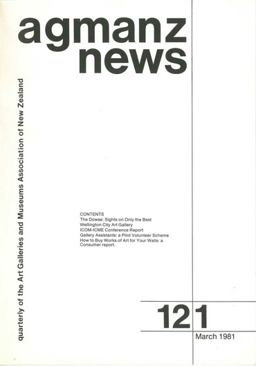 AGMANZ News Volume 12 Number 1 March 1981