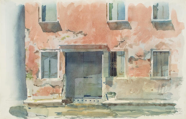 Old House, Rio Malpaga, Venice, 11 June 1974
