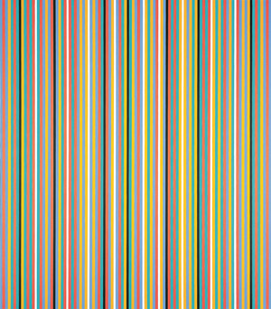 Bridget Riley Serenissima 1982. Oil on linen. Private collection. © Bridget Riley 2017. All rights reserved.