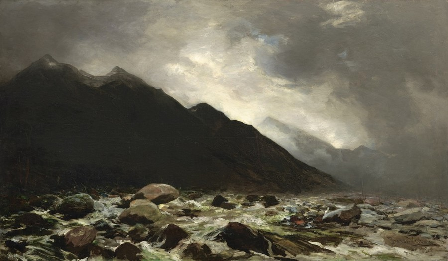 Petrus van der Velden Mount Rolleston and the Otira River 1893. Oil on canvas. Collection of Christchurch Art Gallery Te Puna o Waiwhetū, purchased 1965