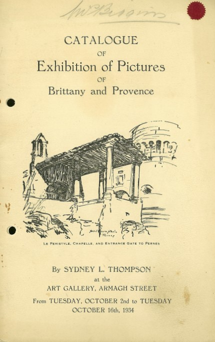 Catalogue of exhibition of pictures of Brittany and Provence