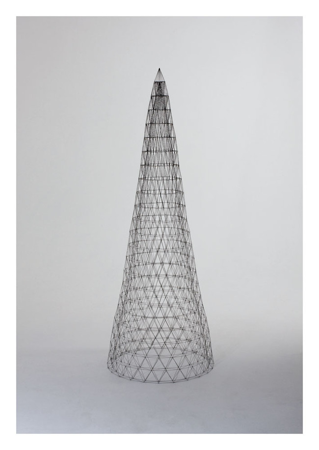 Peter Trevelyan Hyperboloid 2012.0.5mm graphite, MDF plinth,Perspex case