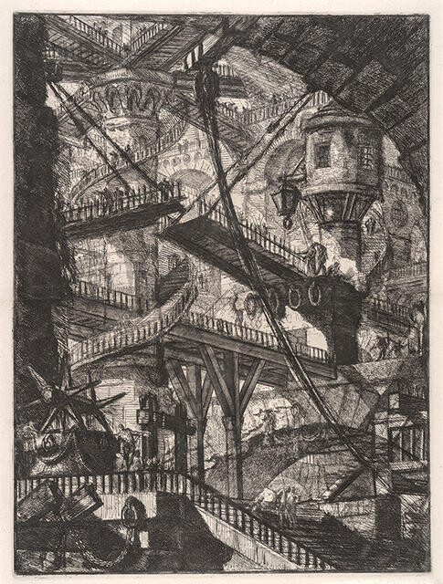 The Drawbridge, Plate VII (second state) from the series Invenzioni Capric di Carceri