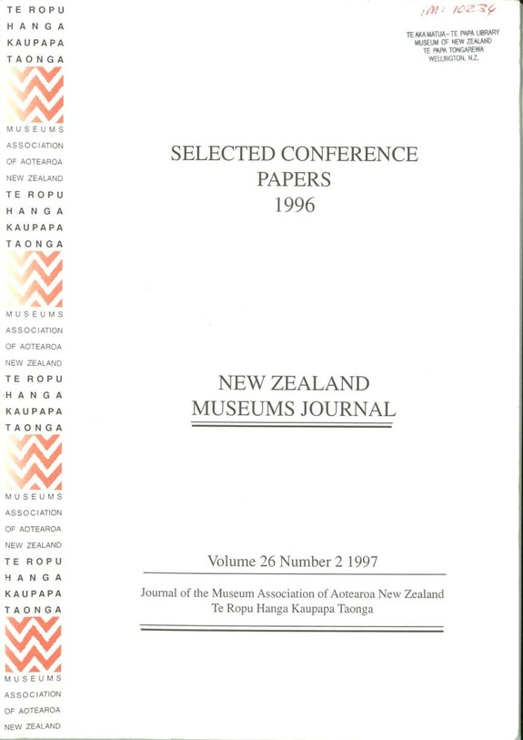 NZMJ Volume 26 Number 2 Summer 1997