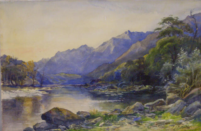 Otira Valley Mountain and River Scene