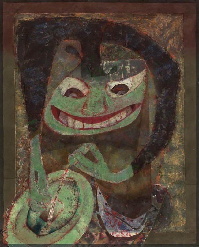Philip Trusttum Peeing 1988–2001. Acrylic on canvas. Collection of Christchurch Art Gallery Te Puna o Waiwhetū, presented by the artist 2009
