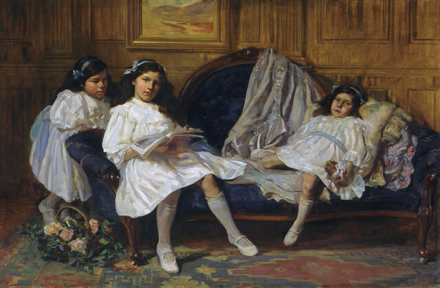 Marjorie, Jean and Nancy, daughters of R E  McDougall Esq