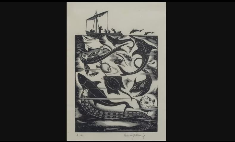 Robert Gibbings - St Brendan and the Sea Monsters