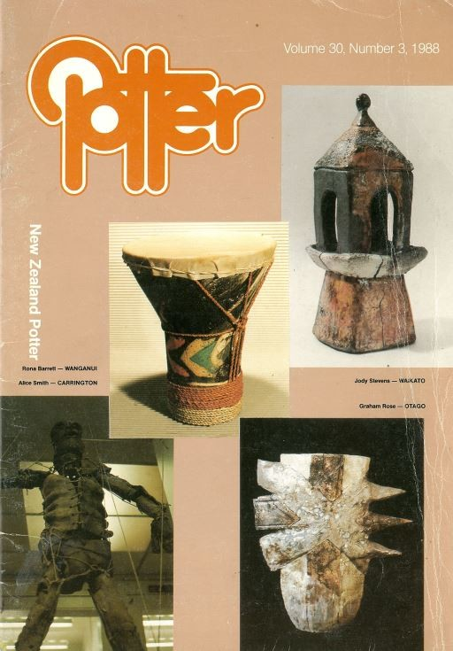 New Zealand Potter volume 30 number 3, 1988