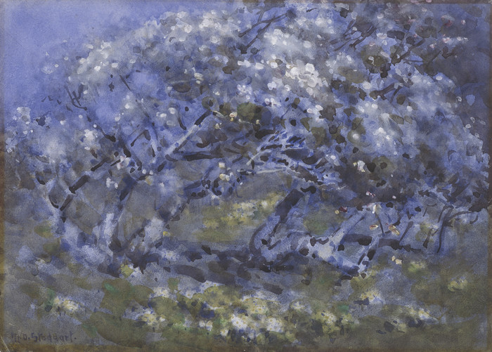Margaret Stoddart Old Cornish Orchard c. 1902. Watercolour on board. Collection of Christchurch Art Gallery Te Puna o Waiwhetu 2000