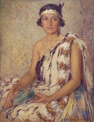 Elizabeth Kelly Toi Toi Hinetauhara (Rima Faith Fraer) c.1934. Oil on canvas. Collection of Christchurch Art Gallery Te Puna o Waiwhetū, purchased 1995