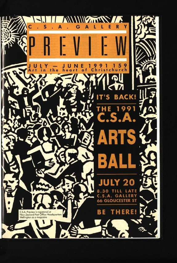 Canterbury Society of Arts Preview, number 159, July/August 1991