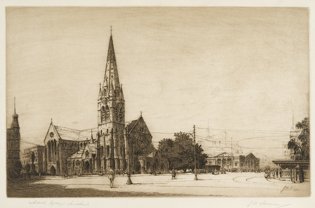 Cathedral Square, Christchurch by John Mills Thomasson