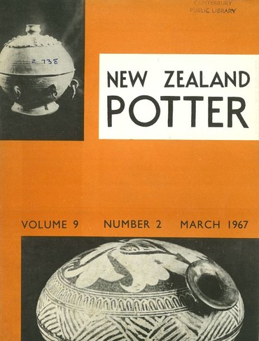 New Zealand Potter volume 9 number 2, March 1967
