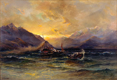 The Mailboat in a Norwester, Wakatipu
