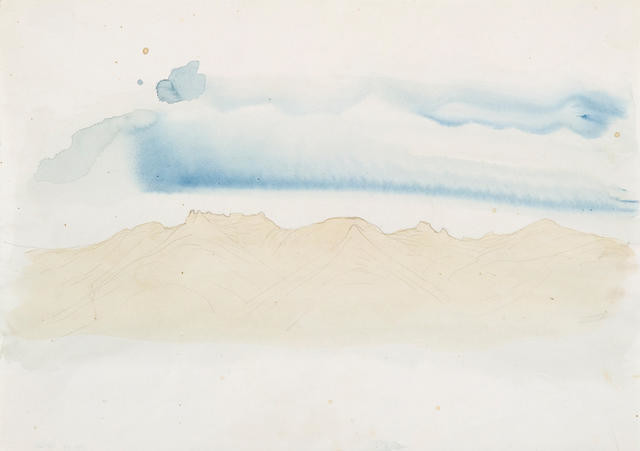 Study For 'Te Tihi O Kahukura And Sky' Series