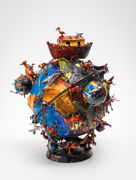 Geoff Dixon Blue globe / Big ark 1998. Mixed media. Collection of Christchurch Art Gallery Te Puna o Waiwhetū, purchased 1999. Reproduced courtesy the artist