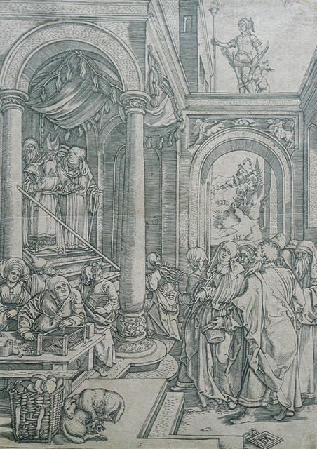 Presentation Of The Virgin In The Temple Temple Scene
