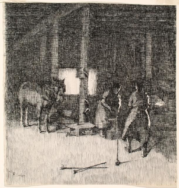 In The Blacksmith's Shop
