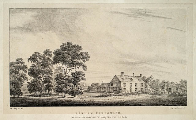 Barham Parsonage.the Residence of the Revd. Wm. Kirby MA. FRS. LS, &c. &c.