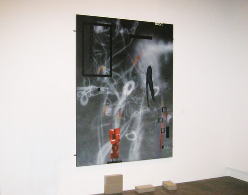 Shane Cotton Dust, Smoke and Rainbows (2013) acrylic on linen, gifted by the artist, 2013. measures 2200x1800mm.