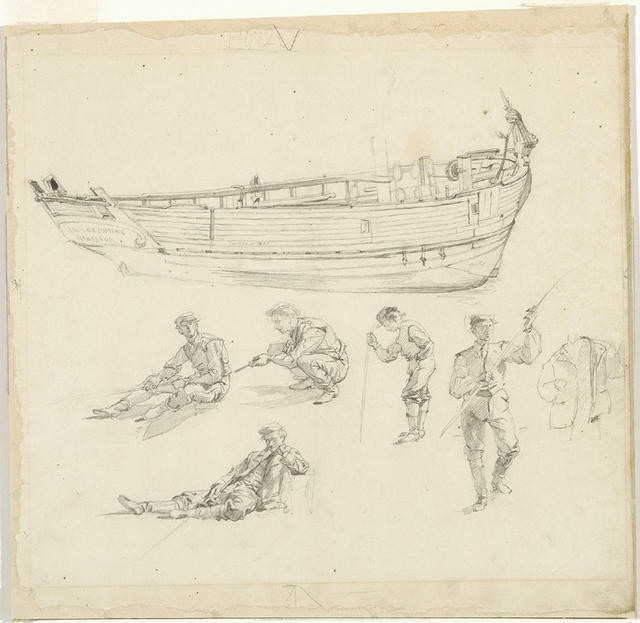 Boat And Figure Sketches