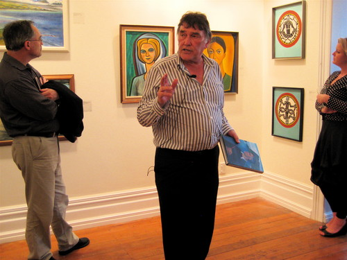 Peter Simpson talking about Leo Bensemann's paintings at W.T.MacAlister Gallery