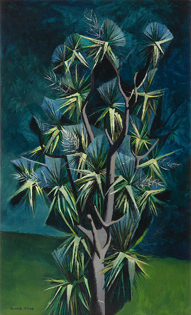 Cabbage Tree in Flower by Russell Clark