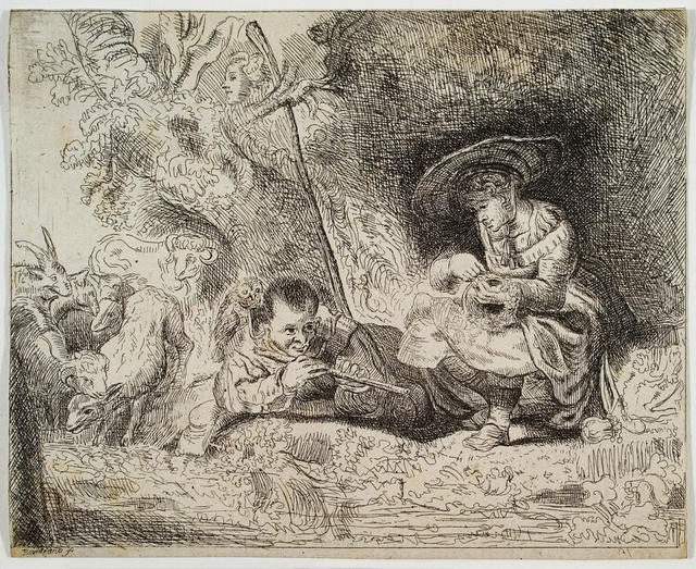 The Flute Player And Shepherdess