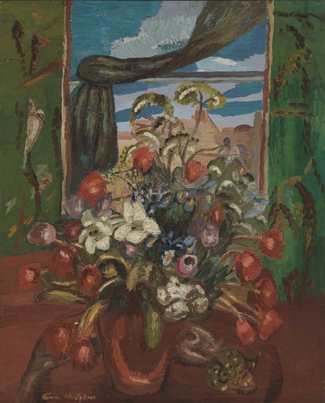 Frances Hodgkins Flowers in a Vase c. 1929. Oil on canvas. Government Art Collection, purchased from the Mayor Gallery, 1958