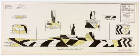 Maurice L. Freedman Dazzle camouflage, Type 17 Design B. Collection of the Fleet Library at RISD. Reproduced with permission