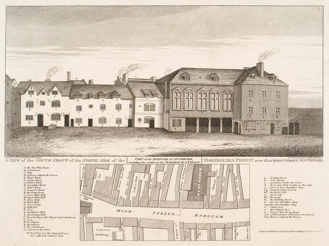 A View Of The South Front Of The North Side Of The Marshalsea Prison, Near Blackman Street, Southwark