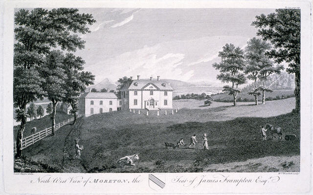 North West View of Moreton, The Seat of James Frampton Esq.