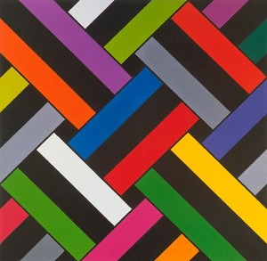 Ian Scott Small Lattice No. 54 1981. Acrylic on canvas. Collection of Christchurch Art Gallery Te Puna o Waiwhetū, purchased 1981