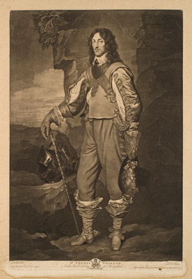 Valentine Green Sir Thomas Wharton (In The Marble Parlour At Houghton) Mezzotint engraving. Collection of Christchurch Art Gallery Te Puna o Waiwhetū, Sir Joseph Kinsey bequest