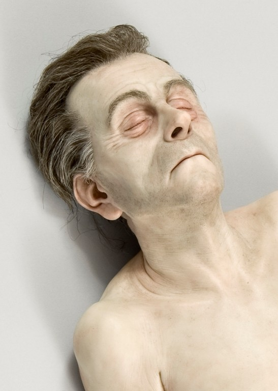 Ron Mueck Dead Dad (detail) 1996-7. Silicone, polyurethane, styrene, synthetic hair, ed. 1/1. Stefan T. Edlis Collection, Chicago. © Ron Mueck courtesy Anthony d'Offay, London. Photo: Michael Tropea