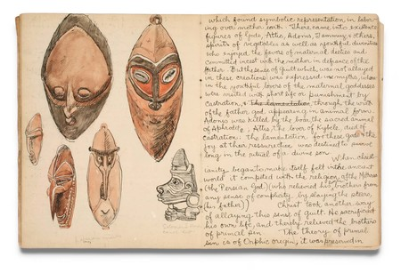 Len Lye Totem and Taboo sketchbook c.1924. Ink and watercolour on paper. Len Lye Foundation Collection and Archive, Govett-Brewster Art Gallery/Len Lye Centre