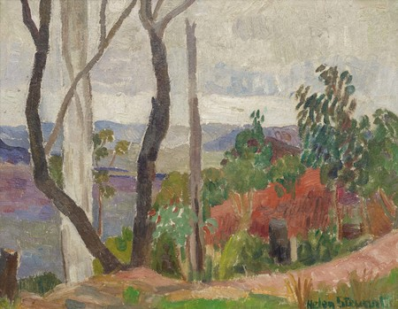 Helen Stewart Bush Landscape c.1935Oil on canvas board. Collection of Christchurch Art Gallery Te Puna o Waiwhetū, purchased 2017