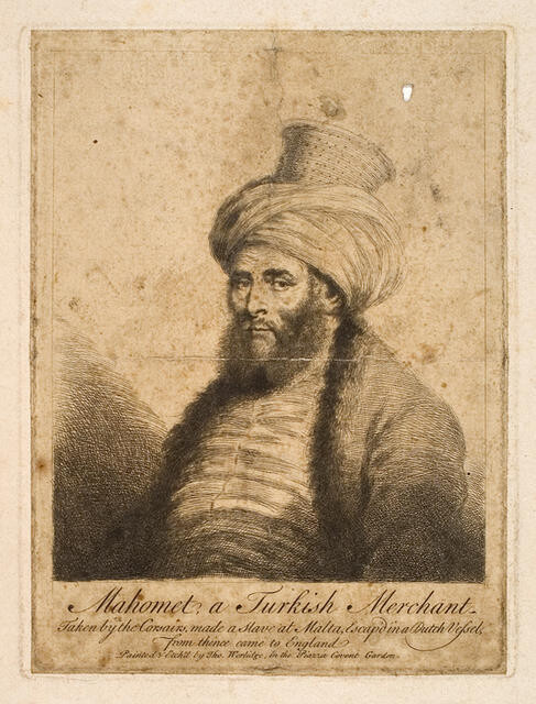 Mahomet, a Turkish Merchant, taken by the Corsairs, made a Slave at Malta, Escaped in a Dutch Vessel, from thence came to England