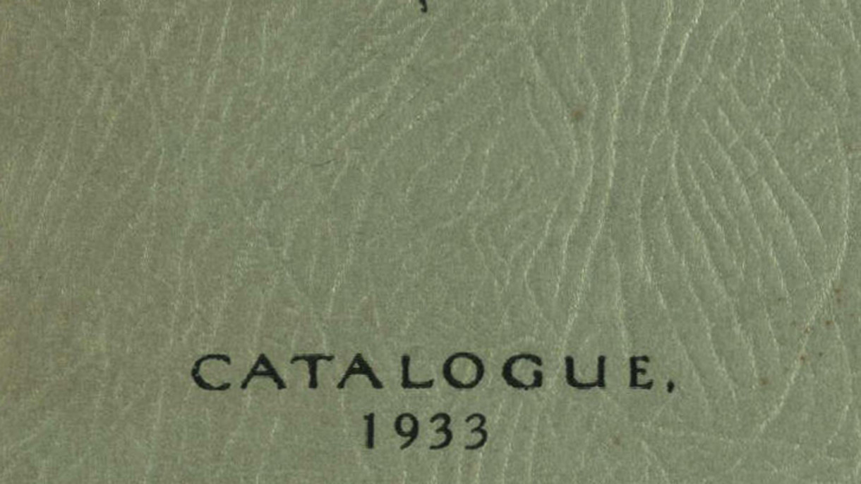 CSA catalogue 1933
