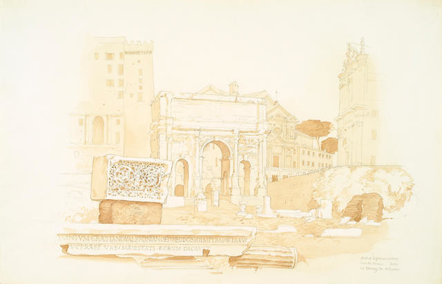 Arch of Septimus Severus From The Forum, Rome, 20 Feb 1974
