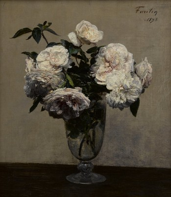 Henri Fantin-Latour Vase des Roses 1875. Oil on canvas. Promised gift of Julian and Josie Robertson