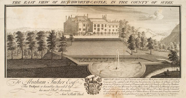 The East View of Betchworth-Castle, in the County of Surry [i.e. Surrey]